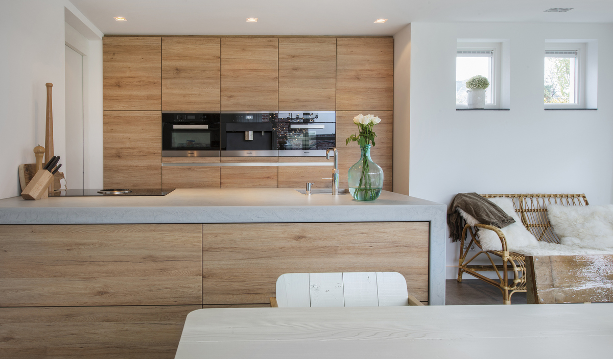 Moderne keuken hout - Foto keuken ...
