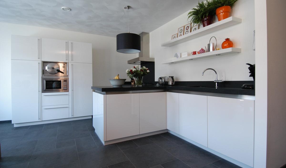 Rechte idee keuken - Moderne keukenfotos ...